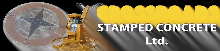 Crossroads Stamped Concrete Retina Logo
